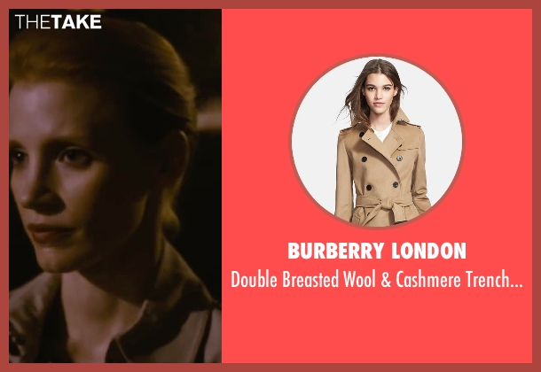 Burberry London brown coat from The Disappearance of Eleanor Rigby seen with Jessica Chastain (Eleanor Rigby)