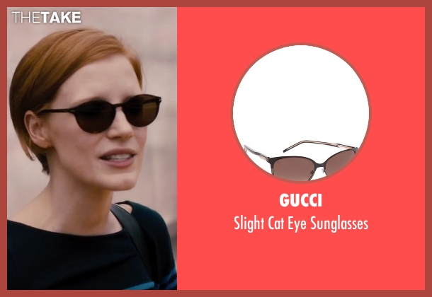 Gucci brown sunglasses from The Disappearance of Eleanor Rigby seen with Jessica Chastain (Eleanor Rigby)