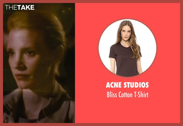 Acne Studios brown t-shirt from The Disappearance of Eleanor Rigby seen with Jessica Chastain (Eleanor Rigby)