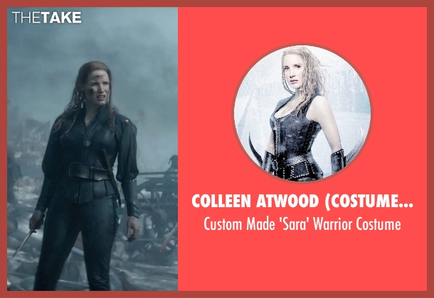 Colleen Atwood (Costume Designer) costume from The Huntsman: Winter's War seen with Jessica Chastain (Sara)