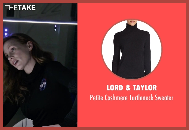 Lord & Taylor black sweater from The Martian seen with Jessica Chastain (Melissa Lewis)