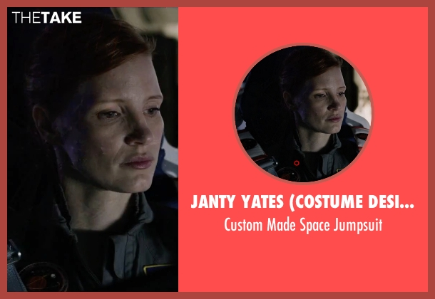 Janty Yates (Costume Designer) jumpsuit from The Martian seen with Jessica Chastain (Melissa Lewis)