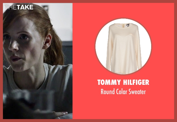 Tommy Hilfiger white sweater from The Martian seen with Jessica Chastain (Melissa Lewis)