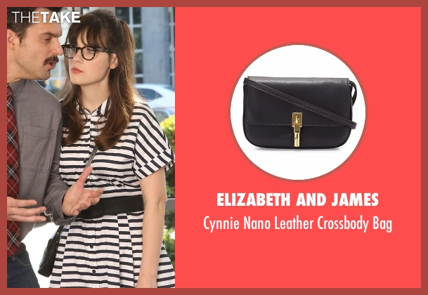 Elizabeth And James black bag from New Girl seen with Jessica Day (Zooey Deschanel)