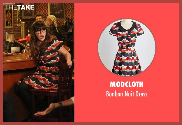 ModCloth black dress from New Girl seen with Jessica Day (Zooey Deschanel)
