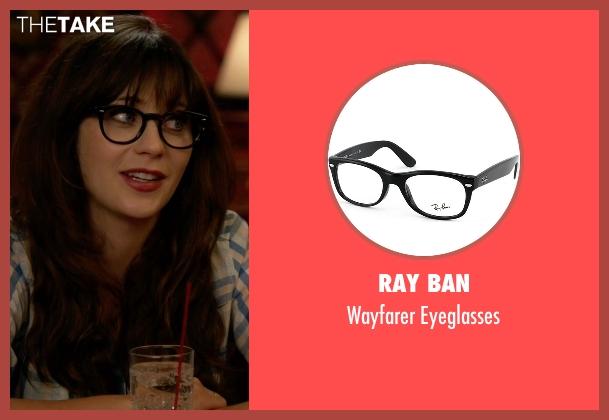 Glasses Frames New Girl : Jessica Days Black Ray Ban Wayfarer Eyeglasses from New ...