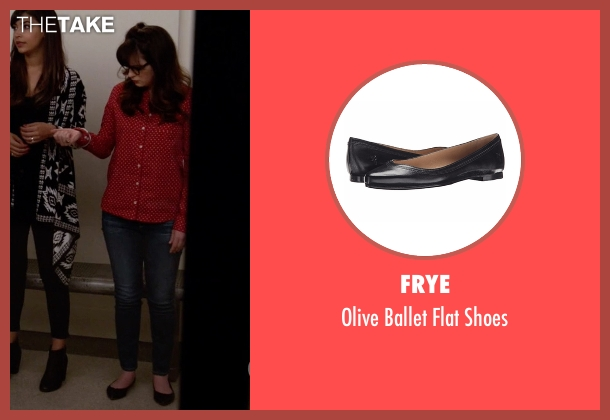 Frye black shoes from New Girl seen with Jessica Day (Zooey Deschanel)