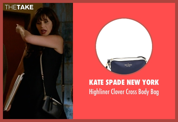 Kate Spade New York blue bag from New Girl seen with Jessica Day (Zooey Deschanel)