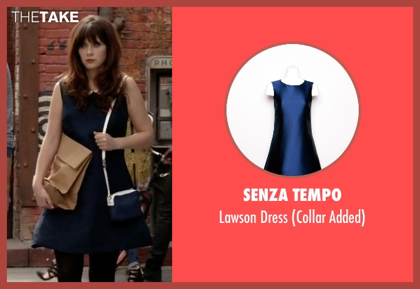 Senza Tempo blue dress from New Girl seen with Jessica Day (Zooey Deschanel)