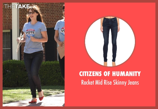 Citizens of Humanity blue jeans from New Girl seen with Jessica Day (Zooey Deschanel)