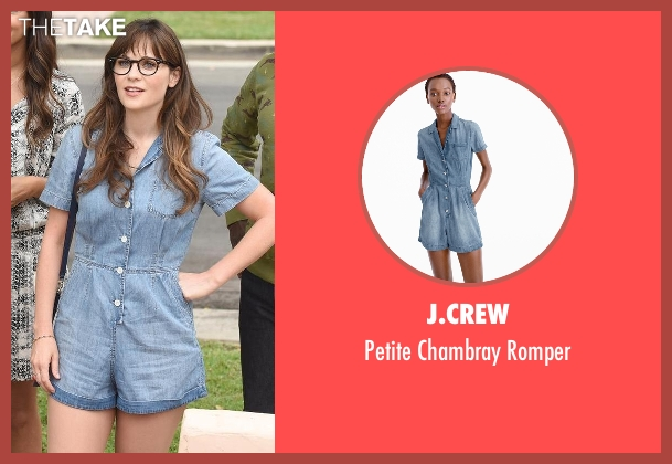 J.Crew blue romper from New Girl seen with Jessica Day (Zooey Deschanel)