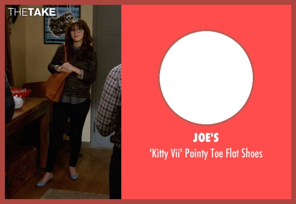 Joe's blue shoes from New Girl seen with Jessica Day (Zooey Deschanel)