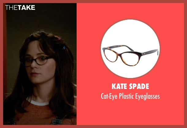 Kate Spade brown eyeglasses from New Girl seen with Jessica Day (Zooey Deschanel)