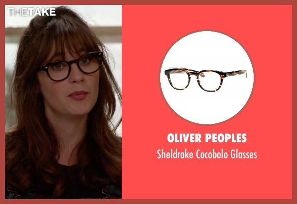 Oliver Peoples brown glasses from New Girl seen with Jessica Day (Zooey Deschanel)