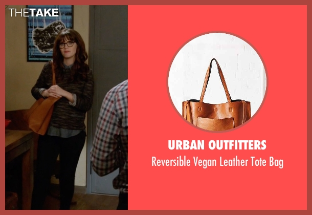 Urban Outfitters brown tote bag from New Girl seen with Jessica Day (Zooey Deschanel)