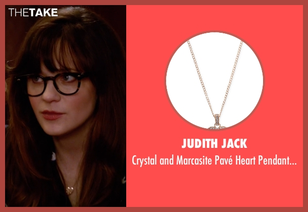Judith Jack gold necklace from New Girl seen with Jessica Day (Zooey Deschanel)