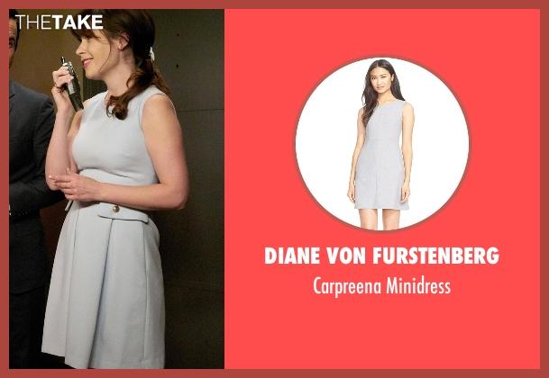 Diane Von Furstenberg gray minidress from New Girl seen with Jessica Day (Zooey Deschanel)