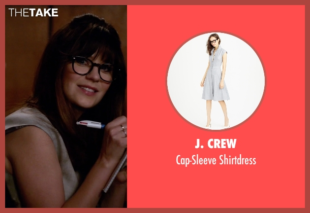 J. Crew gray shirtdress from New Girl seen with Jessica Day (Zooey Deschanel)