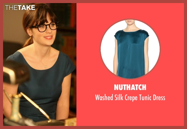 Nuthatch green dress from New Girl seen with Jessica Day (Zooey Deschanel)