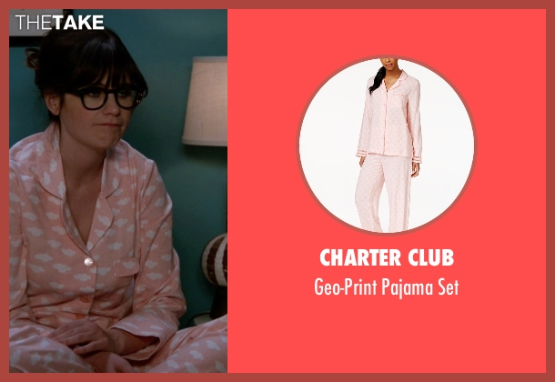 Charter Club pink set from New Girl seen with Jessica Day (Zooey Deschanel)
