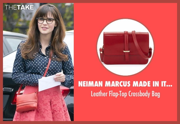 Neiman Marcus Made In Italy red bag from New Girl seen with Jessica Day (Zooey Deschanel)