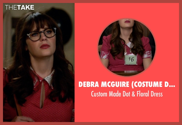 Debra McGuire (Costume Designer) red dress from New Girl seen with Jessica Day (Zooey Deschanel)