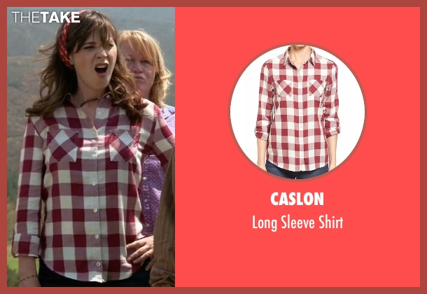 Caslon red shirt from New Girl seen with Jessica Day (Zooey Deschanel)