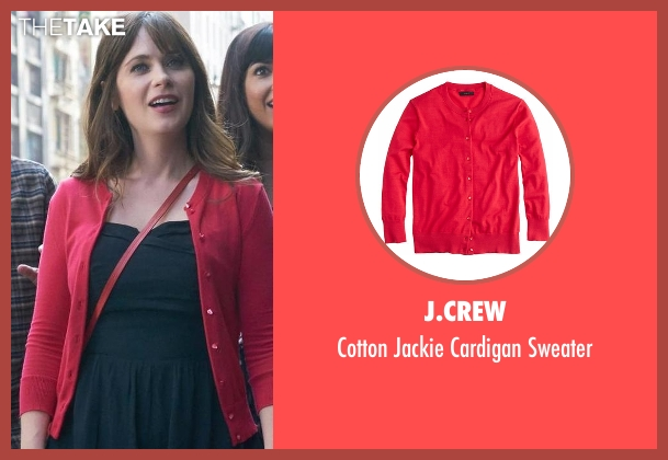 J.Crew red sweater from New Girl seen with Jessica Day (Zooey Deschanel)