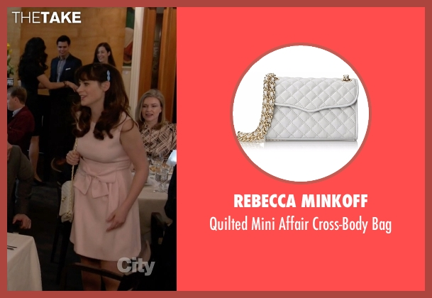 Rebecca Minkoff white bag from New Girl seen with Jessica Day (Zooey Deschanel)
