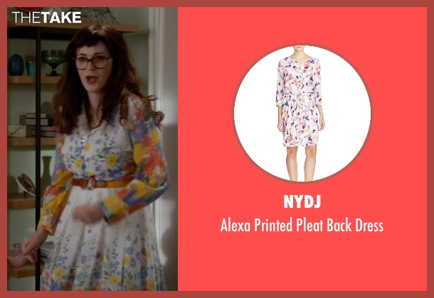 NYDJ white dress from New Girl seen with Jessica Day (Zooey Deschanel)