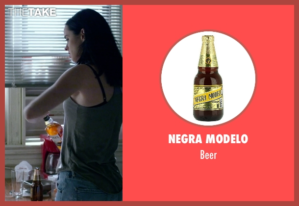 Negra Modelo beer from Jessica Jones seen with Jessica Jones (Krysten Ritter)