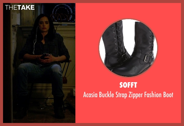 Sofft black boots from Jessica Jones seen with Jessica Jones (Krysten Ritter)