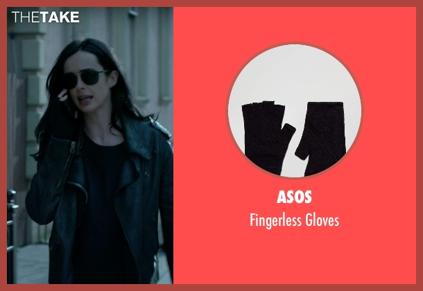 Hot Topic black gloves from Jessica Jones seen with Jessica Jones (Krysten Ritter)