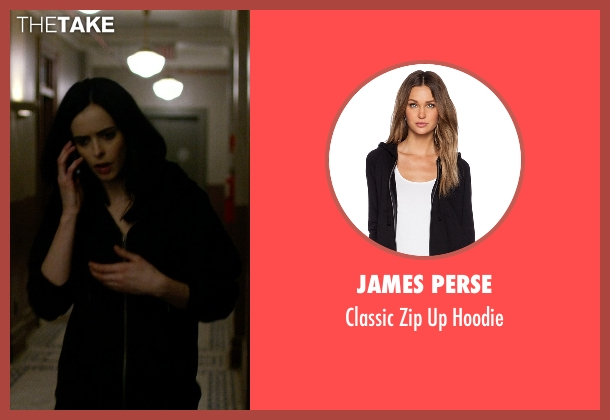 James Perse black hoodie from Jessica Jones seen with Jessica Jones (Krysten Ritter)
