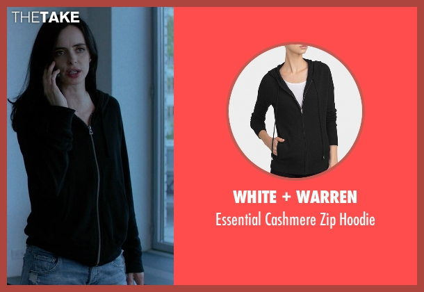 Fine By Superfine black hoodie from Jessica Jones seen with Jessica Jones (Krysten Ritter)