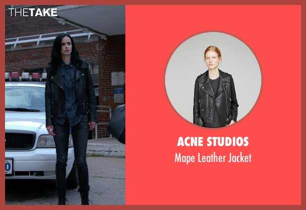 Acne Studios black jacket from Jessica Jones seen with Jessica Jones (Krysten Ritter)