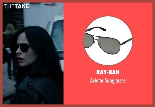 Ray-Ban black sunglasses from Jessica Jones seen with Jessica Jones (Krysten Ritter)