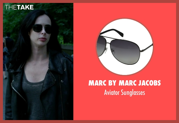 Marc by Marc Jacobs black sunglasses from Jessica Jones seen with Jessica Jones (Krysten Ritter)