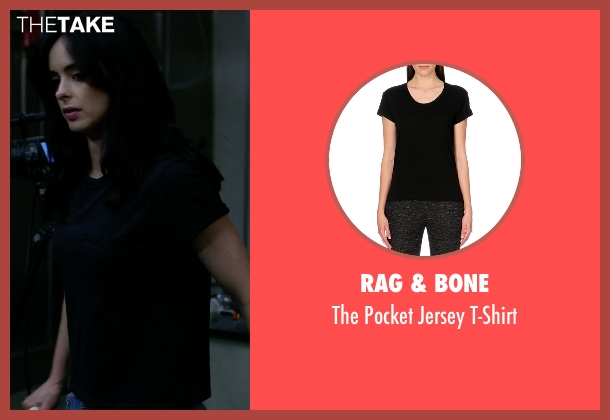 Rag & Bone black t-shirt from Jessica Jones seen with Jessica Jones (Krysten Ritter)