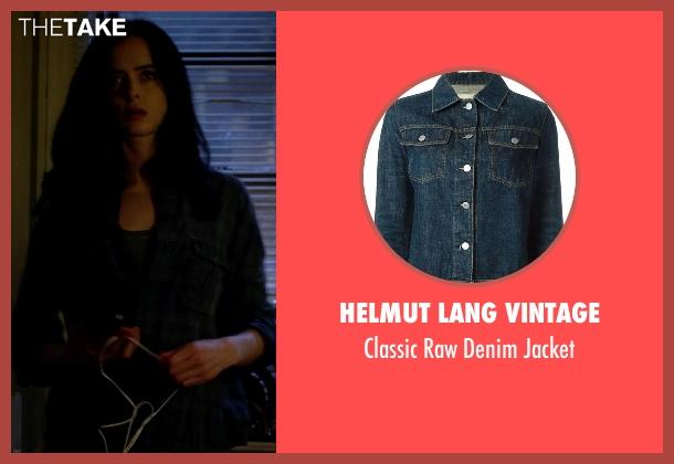 Helmut Lang Vintage blue jacket from Jessica Jones seen with Jessica Jones (Krysten Ritter)