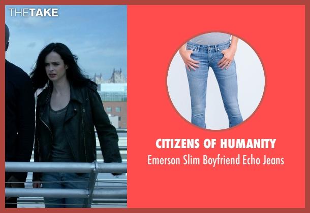 Citizens Of Humanity blue jeans from Jessica Jones seen with Jessica Jones (Krysten Ritter)
