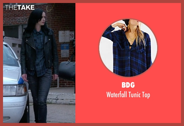 BDG blue top from Jessica Jones seen with Jessica Jones (Krysten Ritter)