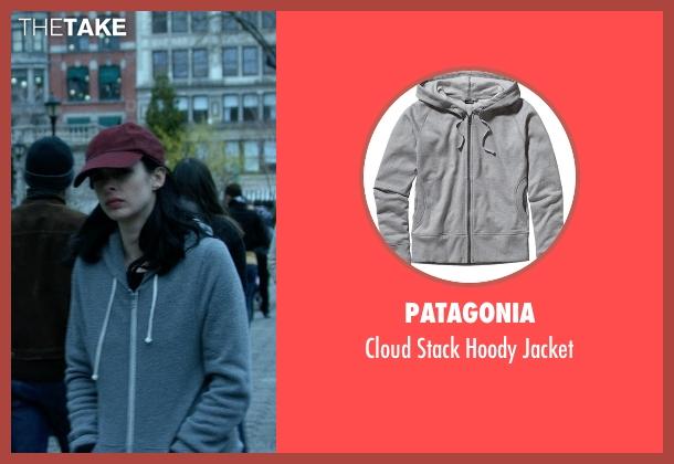 Patagonia gray jacket from Jessica Jones seen with Jessica Jones (Krysten Ritter)