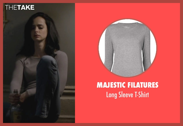 Majestic Filatures gray t-shirt from Jessica Jones seen with Jessica Jones (Krysten Ritter)