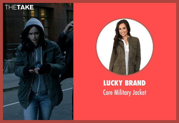 Lucky Brand green jacket from Jessica Jones seen with Jessica Jones (Krysten Ritter)