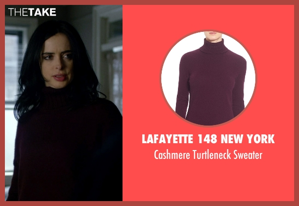 Lafayette 148 New York purple sweater from Jessica Jones seen with Jessica Jones (Krysten Ritter)