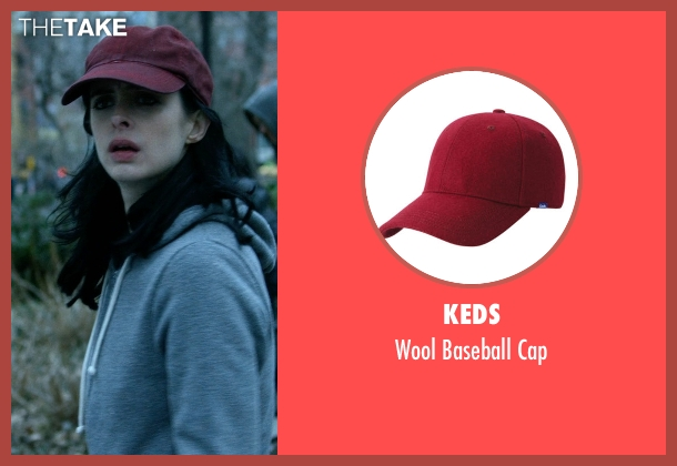 Keds red cap from Jessica Jones seen with Jessica Jones (Krysten Ritter)