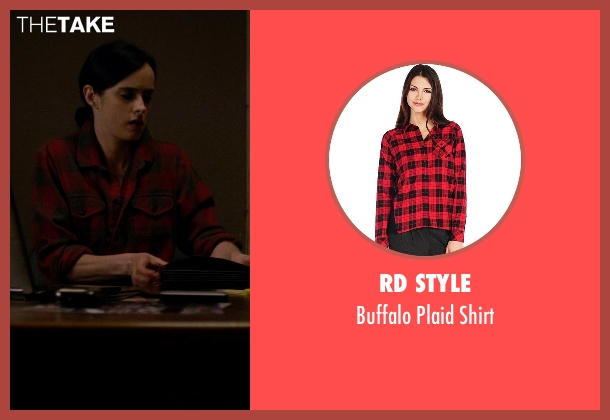 RD Style red shirt from Jessica Jones seen with Jessica Jones (Krysten Ritter)