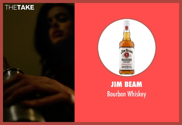 Jim Beam whiskey from Jessica Jones seen with Jessica Jones (Krysten Ritter)