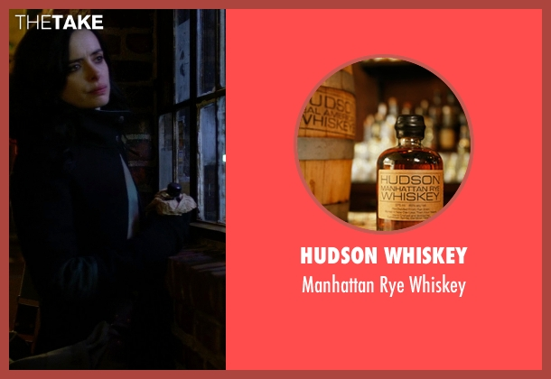 Hudson Whiskey whiskey from Jessica Jones seen with Jessica Jones (Krysten Ritter)